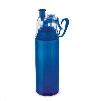 Squeeze com Borrifador de Água Personalizado. PS e ABS. Com borrifador de água. Capacidade até 600 ml. Food grade. Dimensão Produto: ø66 x 250 mm - Cross Brindes