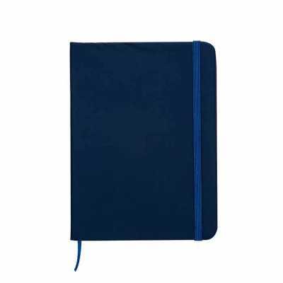 cross-brindes - Caderneta emborrachada de frente e verso liso, marcador de página em cetim e fita elástica para fechar. Contém aproximadamente 80 folhas amarelas paut...