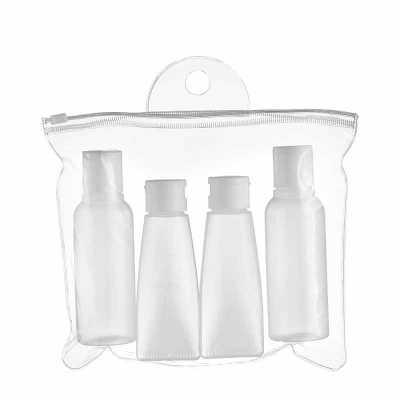 Cross Brindes - Kit viagem 4 peças em estojo plástico ziplock. Contém 2 frascos 110ml com tampa disctop e 2 bisnagas 60 ml com tampa flip-top.