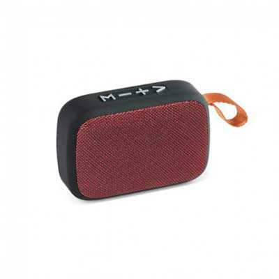 Caixa de som com microfone ABS e tecido em poliéster - Cross Brindes