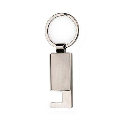cross-brindes - Chaveiro Metal Porta Celular Personalizado