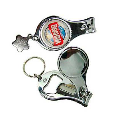 Chaveiro com cortador, mini lixa e abridor de garrafa - Cross Brindes
