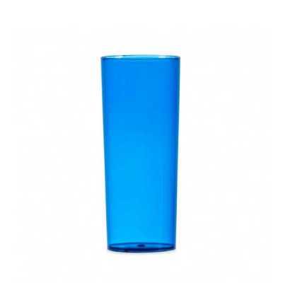 Copo Long Drink 330ml Translúcido Personalizado, material acrílico translúcido. Medidas aproximadas para gravação (CxL):  14 cm x 6 cm Tamanho total a... - Cross Brindes
