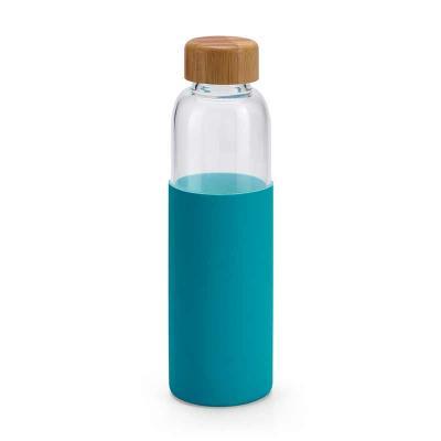 Squeeze de vidro Personalizado Squeeze Personalizado.DAKAR. Vidro borossilicato. Com tampa em bam...