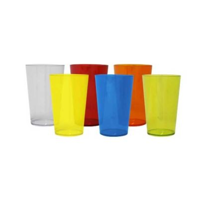 Soluções Brindes - Copo 550 ml Disponíveis nas Cores: laranja, vermelho, azul, verde, amarelo e transparente. Tamanho total (CxC): 14,0cm x 26,0cm - Peso do produto: 64g
