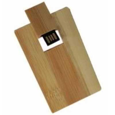 Soluções Brindes - Pen card 4GB madeira