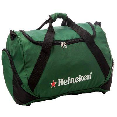 Bolsa de viagem, bolso lateral, alça de mão e tiracolo