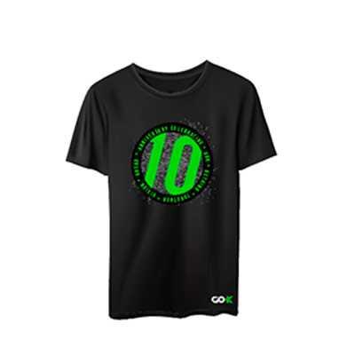 Camiseta colorida manga curta - Marca e sua marca