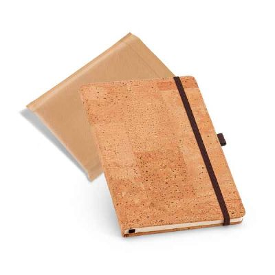 Caderno capa de cortiça - Tekinha Brindes