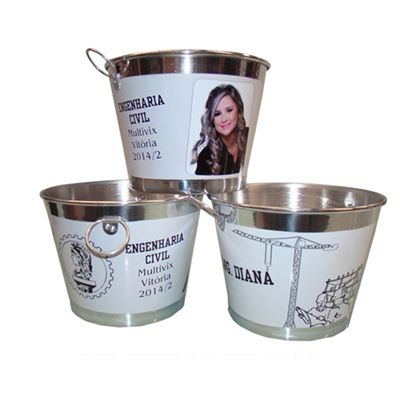 tekinha-brindes - Balde de gelo personalizado para até 9 litros.