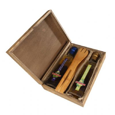 design-promo - Kit tempero com 2 garrafas de azeite e 1 pegador de salada