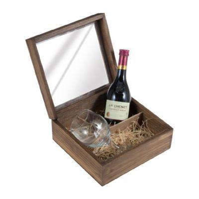 Kit garrafa de vinho Francês J.P Chenet de 200 ml acompanhado de 1 taça de vidro - Design Promo