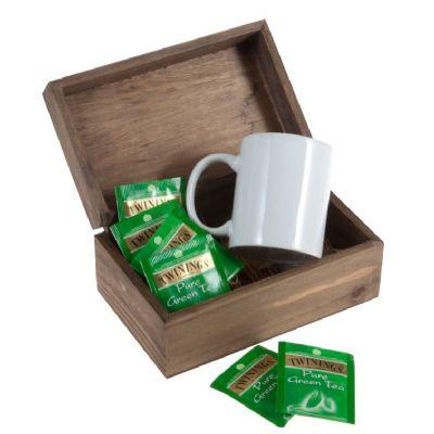 Kit chá com sachês e caneca de porcelana - Design Promo