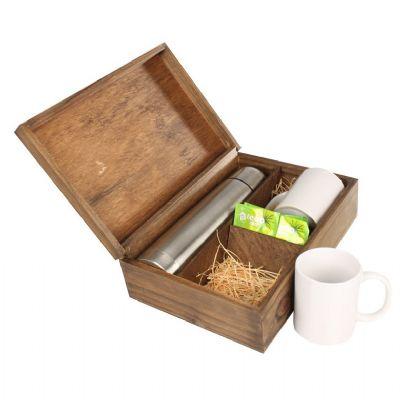Kit chá com canecas e garrafa térmica - Design Promo