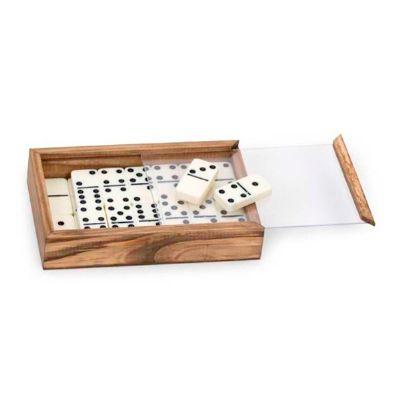 design-promo - Kit com dominó em caixa de madeira envelhecida