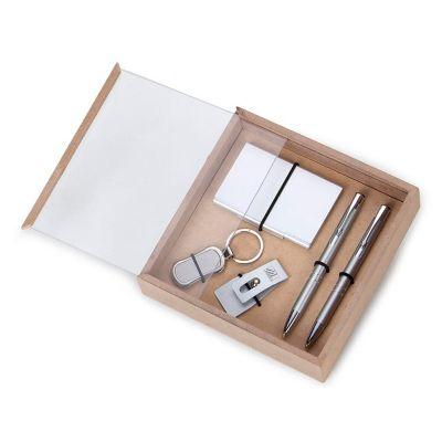 design-promo - Kit escritório com caneta, lapiseira, chaveiro, porta recado e porta cartão