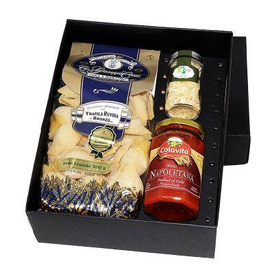 Kit gourmet em caixa de papel duplex personalizado - Design Promo