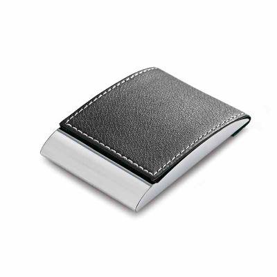 first-class - Porta-cartões de metal e couro
