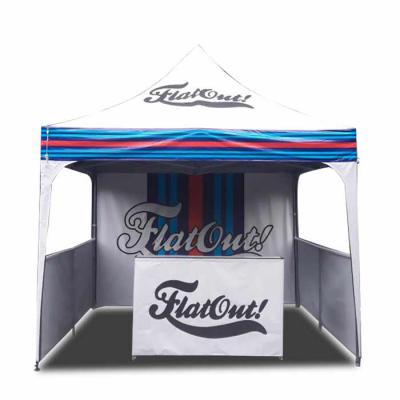 Promotendas - Tenda 3x3 sanfonada com saias e balcão sanfonado