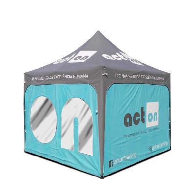promotendas - Tendas personalizadas de praia ou gazebo lona PVC totalmente impermeável, Semi Blackout para não esquentar com calor, acabamento em viés e em lona nas...