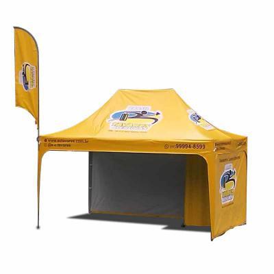 promotendas - Tendas e barracas em  lona PVC totalmente impermeável, Semi Blackout para não esquentar com calor, acabamento em viés e em lona nas pernas da tenda  e...