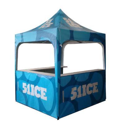 promotendas - Tenda personalizada com acessórios, fechamento, fechamento em lona cristal, balcão e saia, bandeira wing banner