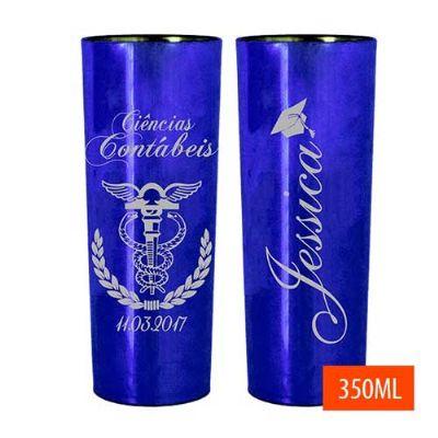 Copo Long drink azul - Brindes Drica