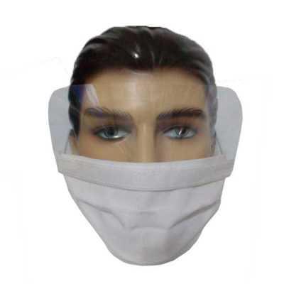 Máscara de proteção com visor ocular de acetato cristal