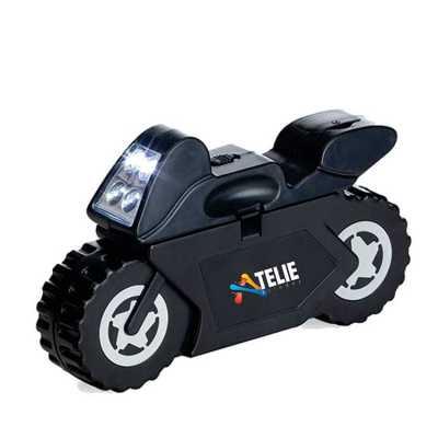 Kit mini ferramentas formato motocicleta