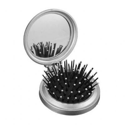 Ateliê Brindes - Escova de cabelo com espelho.