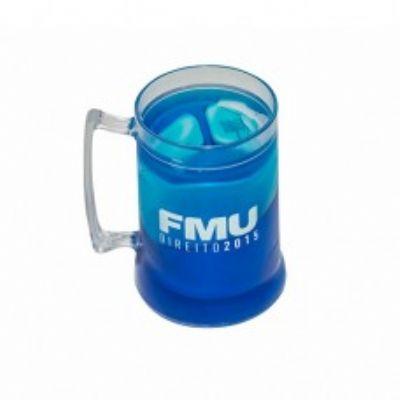 Canecas de chopp gel ps cristal 400 ml