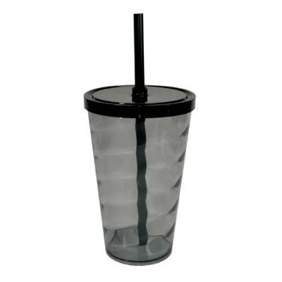 Splash7 Brindes - Copo espiral com tampa e canudo