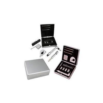 """- Kit ferramenta 21 peças com caixa de plástico resistente, para abrir basta pressionar botão """"push"""" na parte central. Possui: 3 mini chaves de fenda, t..."""