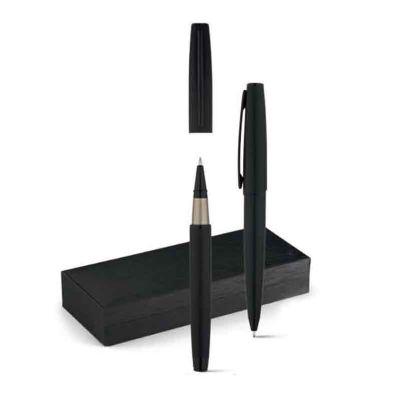 Conjunto de caneta roller esferográfica de metal - Galeria de Ideias