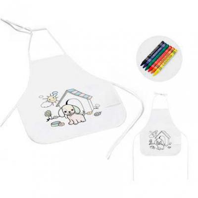 Avental infantil para colorir Non-woven