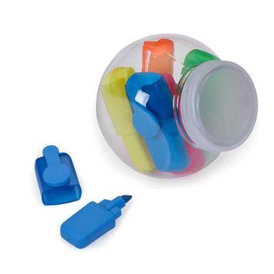 Galeria de Ideias - Kit com caneta marca Texto com pote plástico