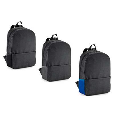 galeria-de-ideias - Mochila para notebook em 600D, compartimento para notebook 15.6, Bolso lateral em mesh e bolso frontal. Parte posterior almofadada. Peças nas cores pr...