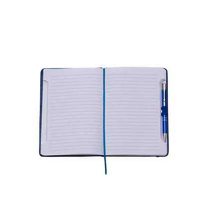 galeria-de-ideias - Bloco de anotações em sintético com caneta metálica