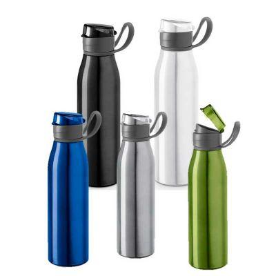 - Squeeze de alumínio com capacidade 650ml. Peças nas cores preta, azul, branca, verde claro ou cromado satinado. Medidas: 66 mm x 240 mm. Gravação: las...