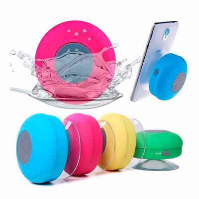 Caixa de som à prova de água em ABS com acabamento emborrachado - Galeria de Ideias