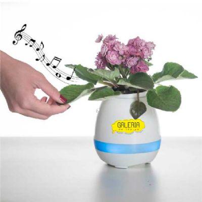 galeria-de-ideias - Caixa de som no vaso de planta