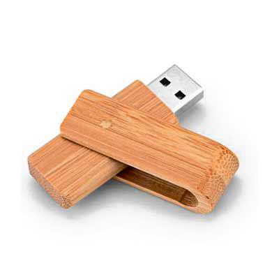 Galeria de Ideias - Pen drive bambu