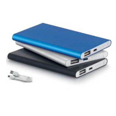 galeria-de-ideias - Bateria portátil slim de alumínio