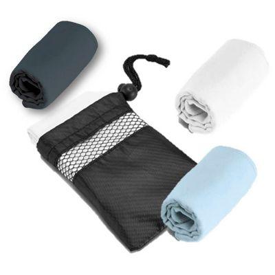 - Toalha para esporte. Microfibra: 210 g/m². Fornecido com bolsa em 190T. Peças nas cores branca, azul claro ou cinza. Medidas: 400x800mm Bolsa: 135x180...