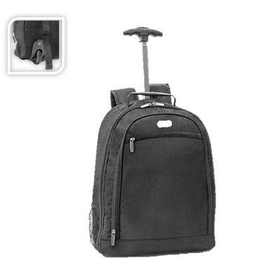 Mochila trolley para notebook 1680D e 600D possui 2 rodas. - Galeria de Ideias