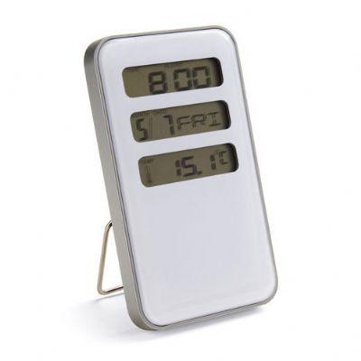 Galeria de Ideias - Relógio de mesa com calendário e termômetro