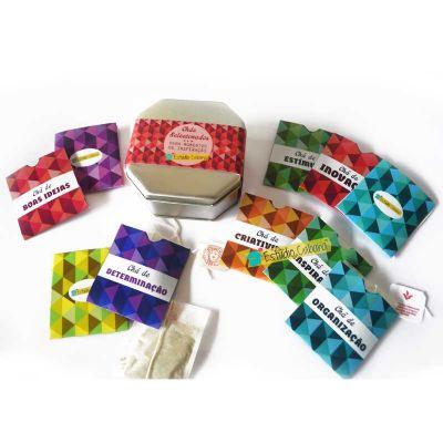 Caixa de chás selecionados para momentos de inspiração