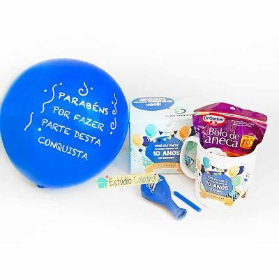 Kit Aniversário com caneca e bolo
