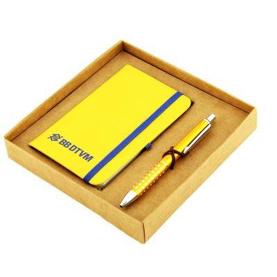 kmp-presentes-promocionais - Kit personalizado com moleskine e caneta