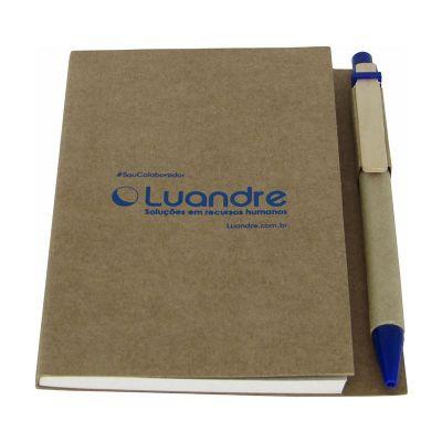 AD Promo Cadernos e Blocos. - Caderneta de anotações Eco moleskine com caneta